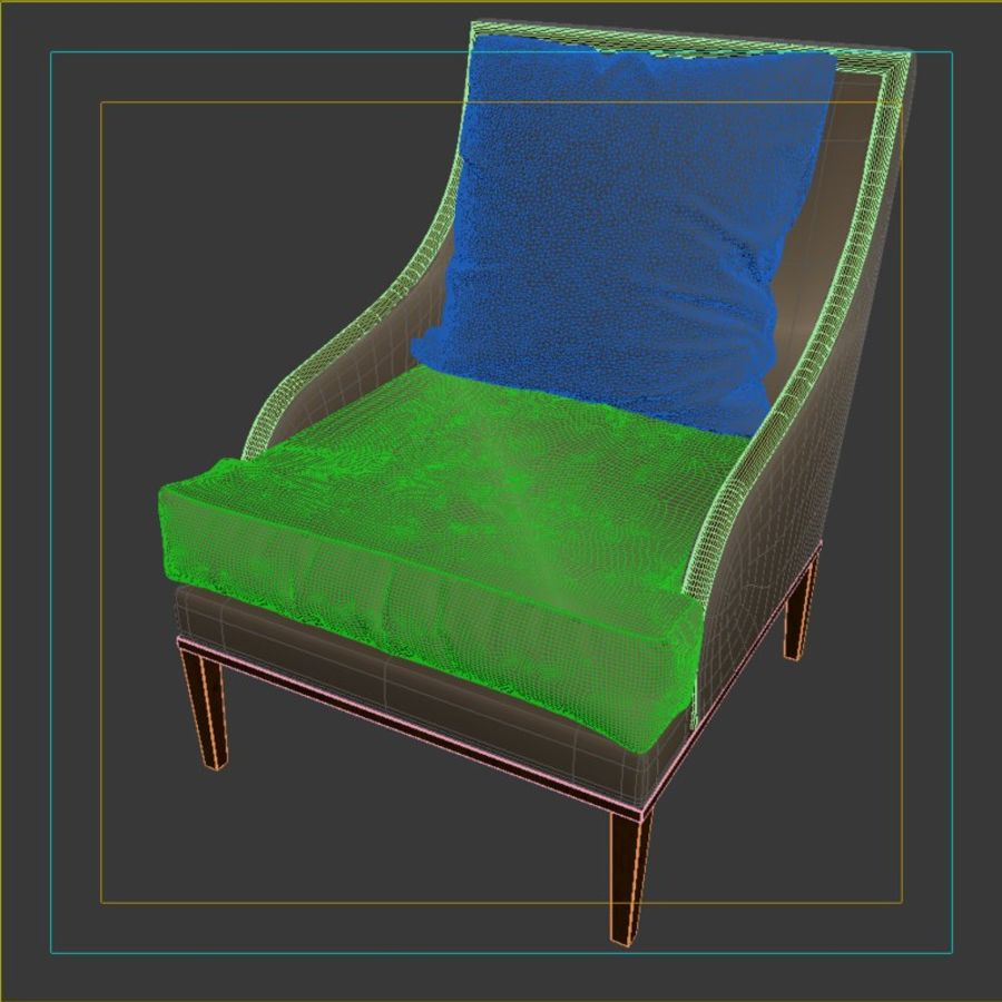 ASTER CHAIR BY CENTURY FURNITURE royalty-free 3d model - Preview no. 9