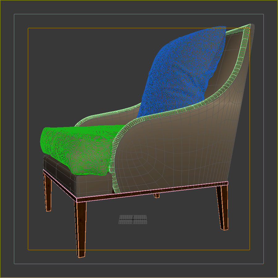 ASTER CHAIR BY CENTURY FURNITURE royalty-free 3d model - Preview no. 11