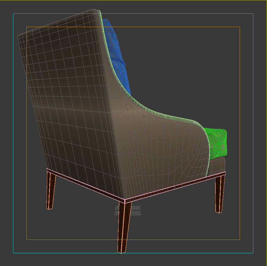 ASTER CHAIR BY CENTURY FURNITURE royalty-free 3d model - Preview no. 8