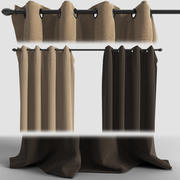 Curtains with eyelets 3d model
