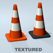 Traffic Cone Textured 3d model