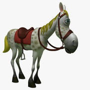 Cavalo Comic Cartoon 3d model