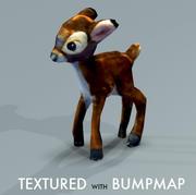 Stuffed Deer textured normalmap 3d model