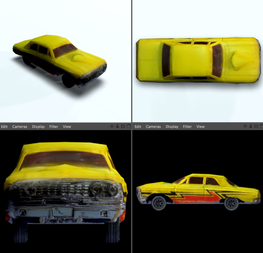 car low texture royalty-free 3d model - Preview no. 4