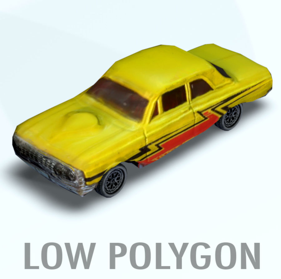 car low texture royalty-free 3d model - Preview no. 1