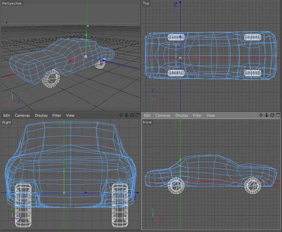 car low texture royalty-free 3d model - Preview no. 5