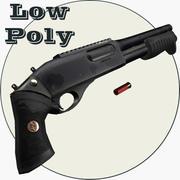 Remington 870 MCS Low Poly 3d model