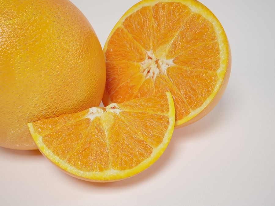 Scène orange réaliste royalty-free 3d model - Preview no. 5