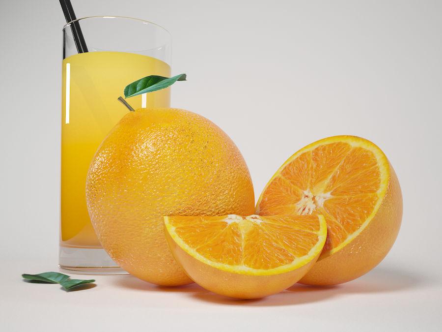 Scène orange réaliste royalty-free 3d model - Preview no. 3