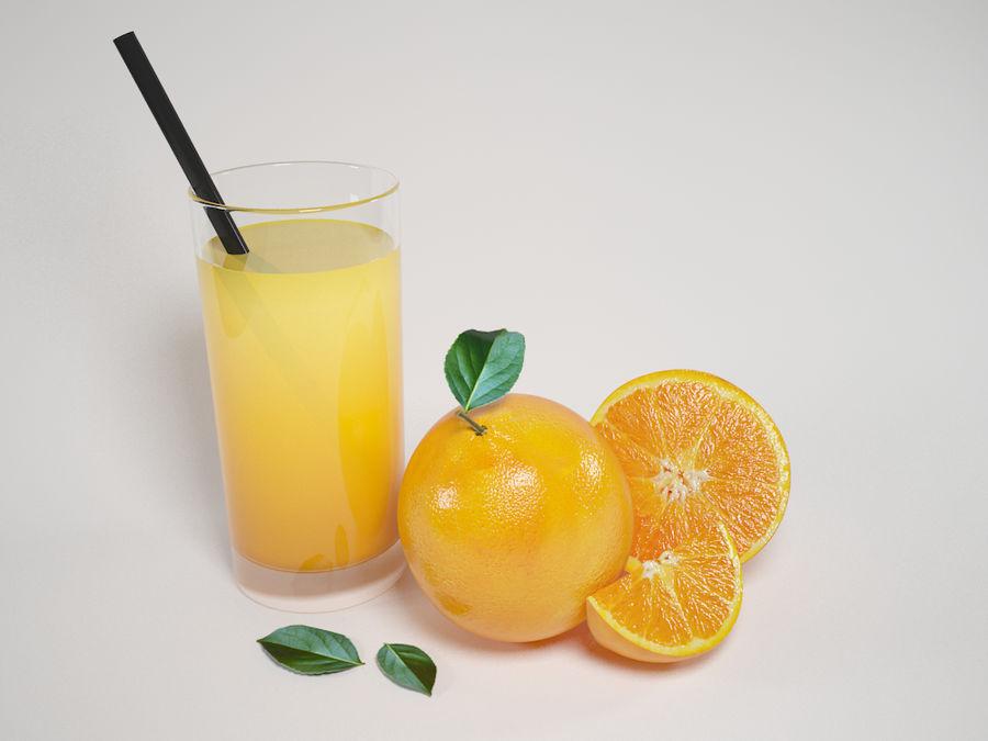 Scène orange réaliste royalty-free 3d model - Preview no. 1