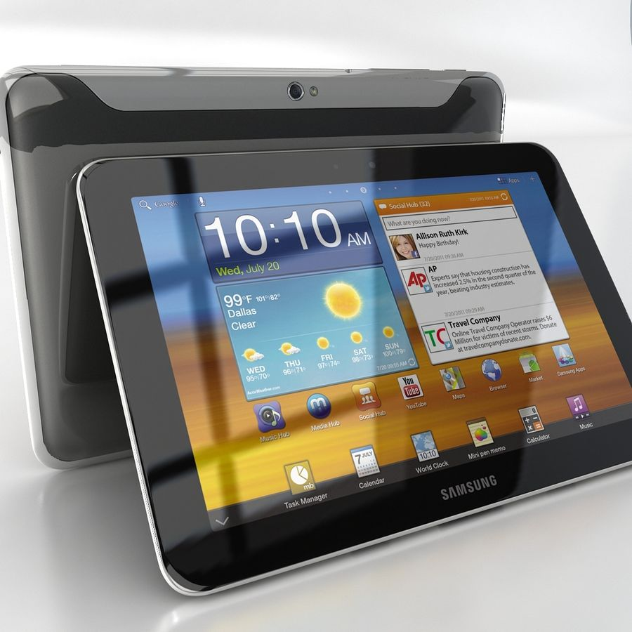Samsung Galaxy Tab 8.9 royalty-free 3d model - Preview no. 2