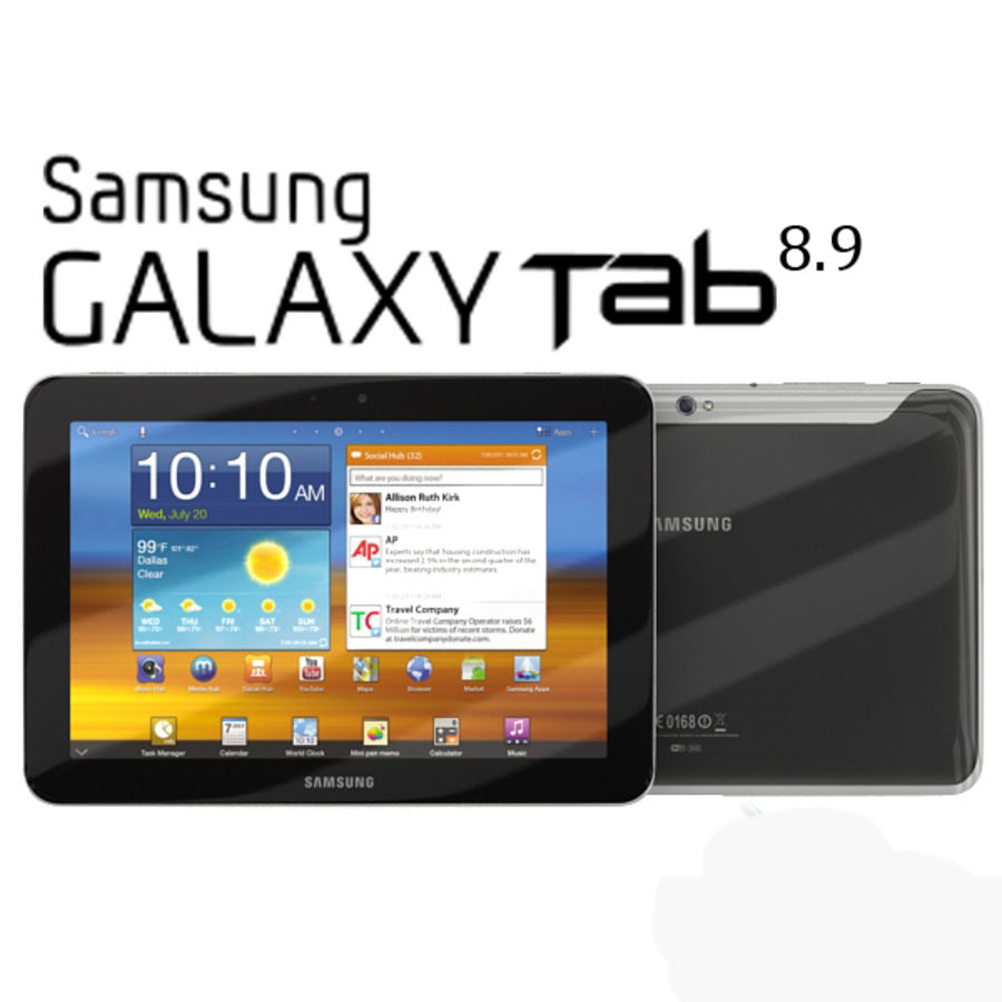 Samsung Galaxy Tab 8.9 royalty-free 3d model - Preview no. 1