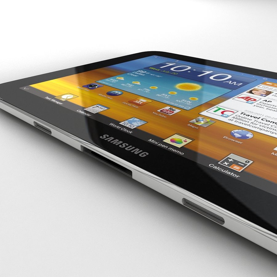 Samsung Galaxy Tab 8.9 royalty-free 3d model - Preview no. 11