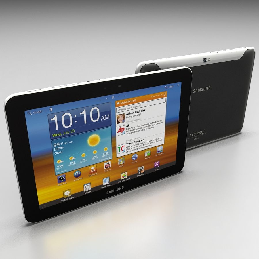 Samsung Galaxy Tab 8.9 royalty-free 3d model - Preview no. 4