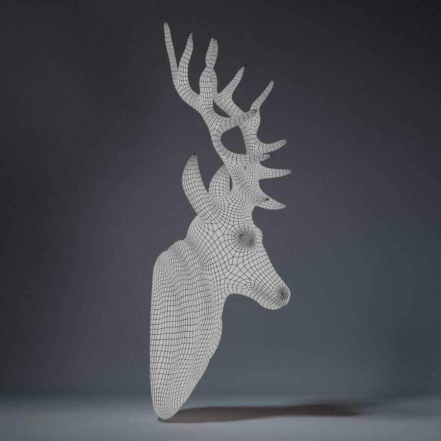 Deer Head Sculpture royalty-free 3d model - Preview no. 11