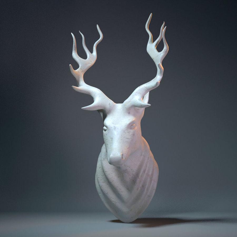 Deer Head Sculpture royalty-free 3d model - Preview no. 8
