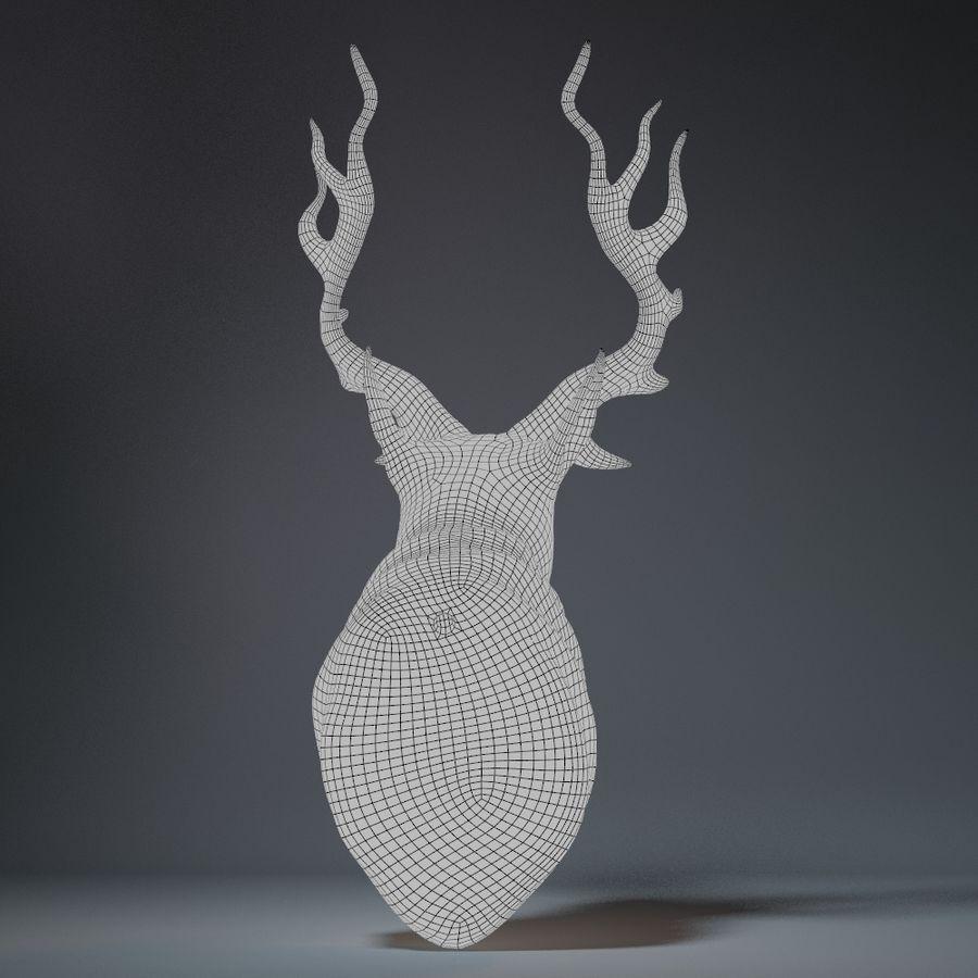 Deer Head Sculpture royalty-free 3d model - Preview no. 13