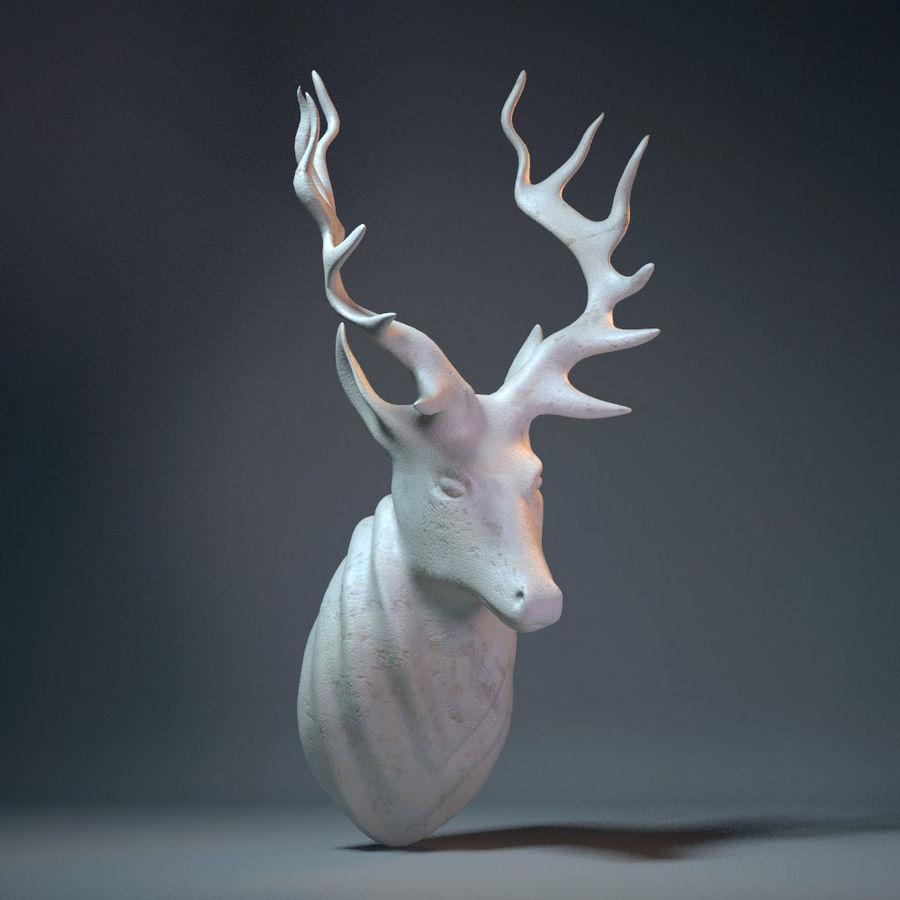 Deer Head Sculpture royalty-free 3d model - Preview no. 1