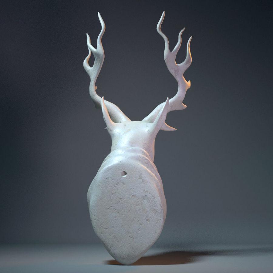 Deer Head Sculpture royalty-free 3d model - Preview no. 4