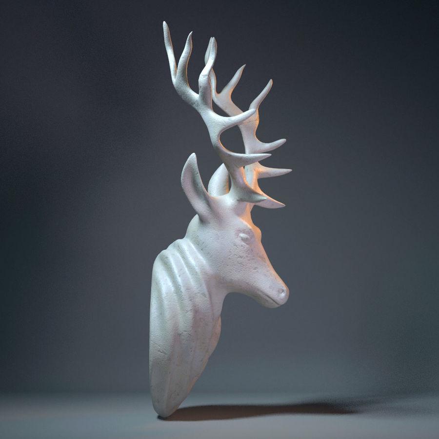 Deer Head Sculpture royalty-free 3d model - Preview no. 2