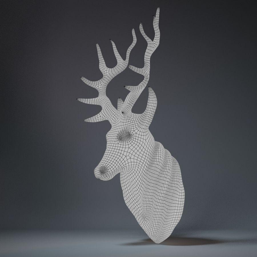 Deer Head Sculpture royalty-free 3d model - Preview no. 16