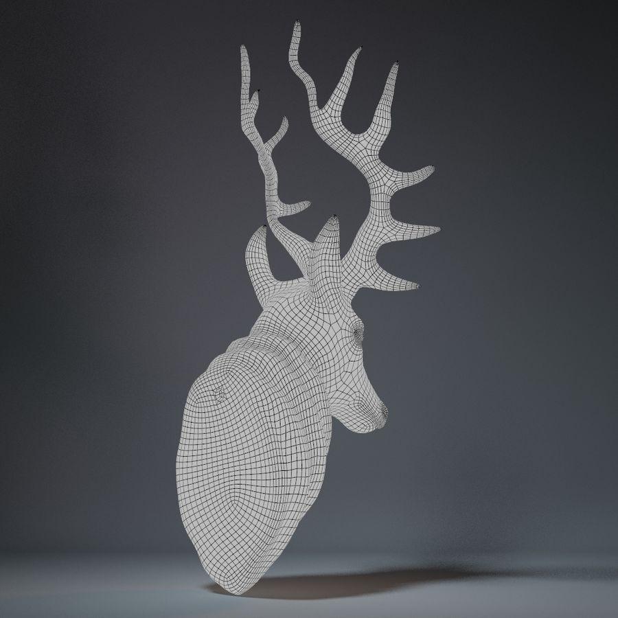 Deer Head Sculpture royalty-free 3d model - Preview no. 12