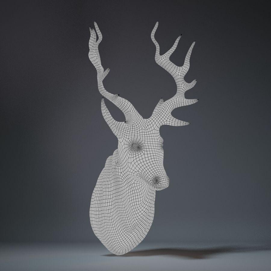 Deer Head Sculpture royalty-free 3d model - Preview no. 10