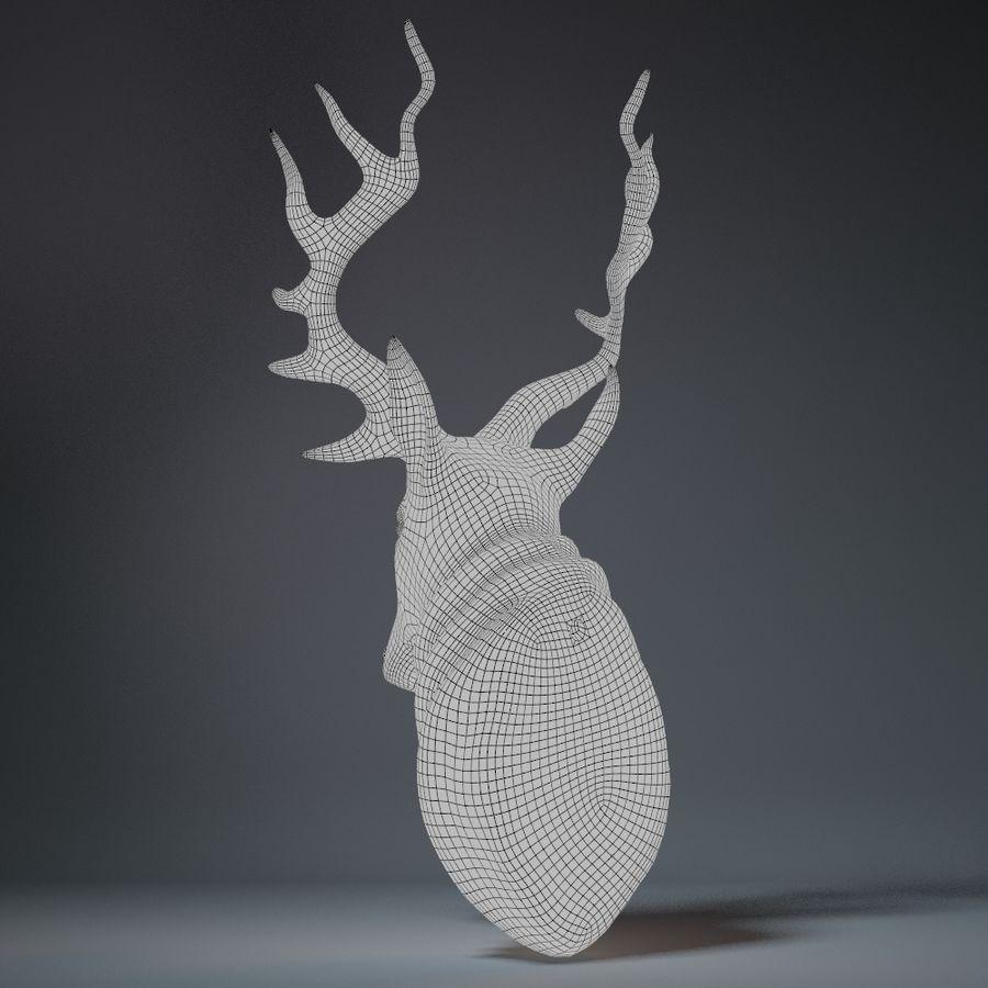 Deer Head Sculpture royalty-free 3d model - Preview no. 14
