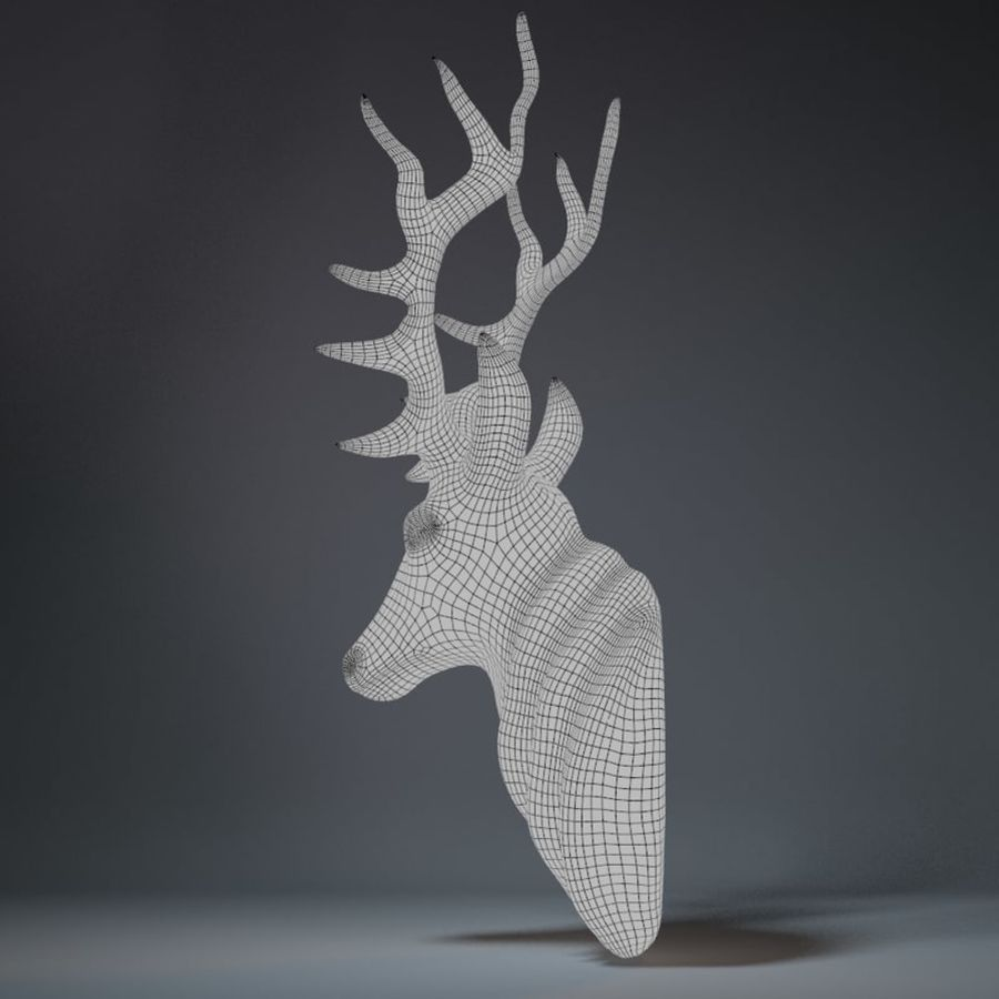 Deer Head Sculpture royalty-free 3d model - Preview no. 15