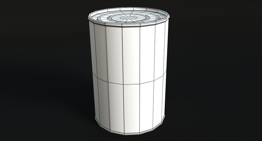 Canned Soup royalty-free 3d model - Preview no. 5