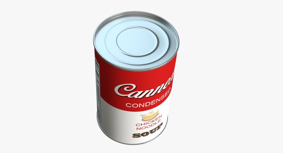 Canned Soup royalty-free 3d model - Preview no. 3