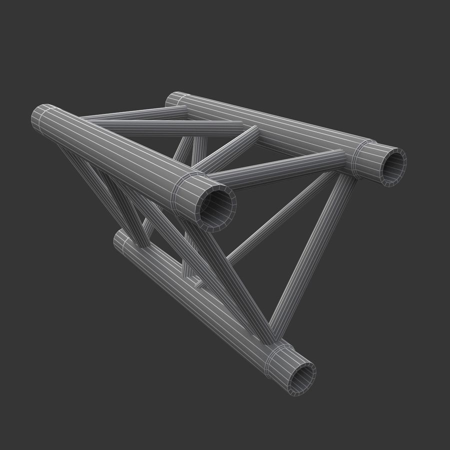 Straight Truss Collection (Triangle) royalty-free 3d model - Preview no. 5