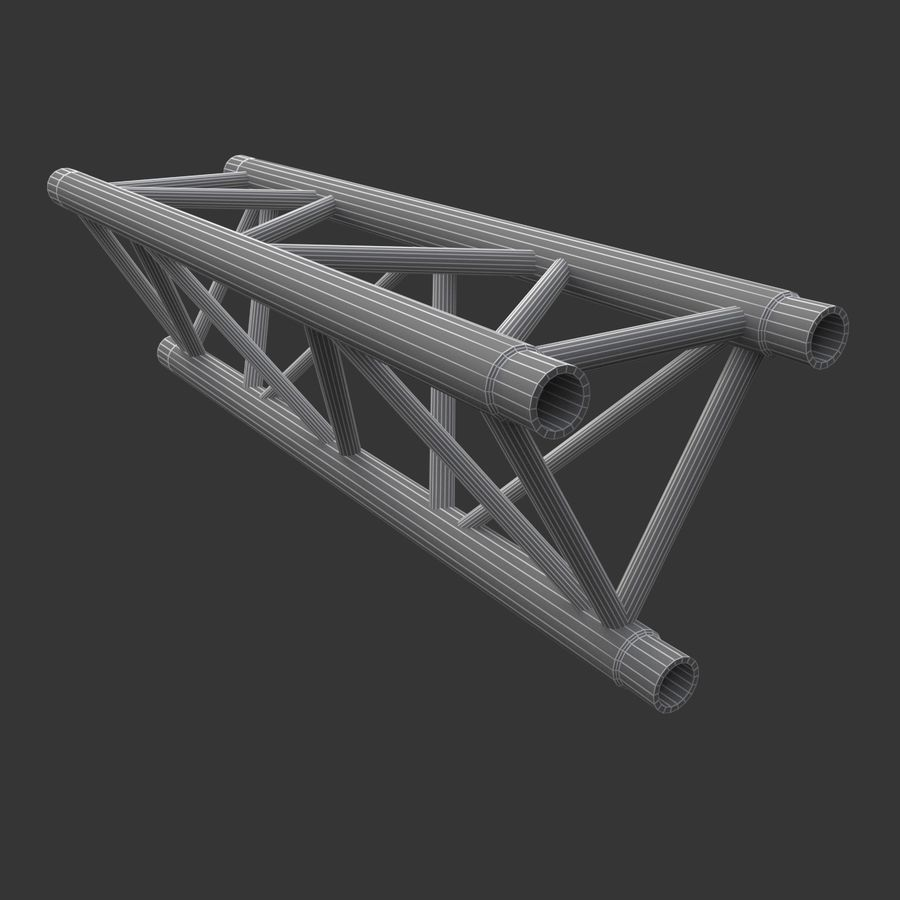Straight Truss Collection (Triangle) royalty-free 3d model - Preview no. 9