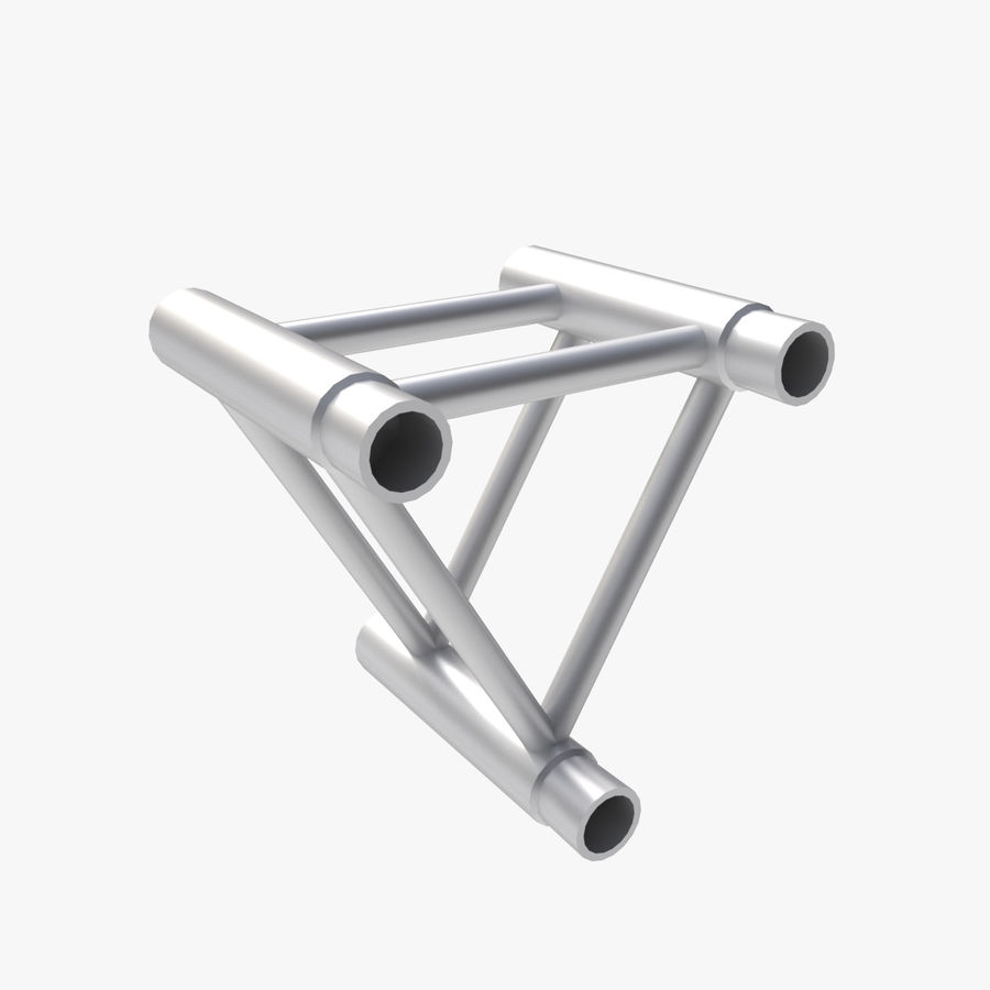 Straight Truss Collection (Triangle) royalty-free 3d model - Preview no. 2