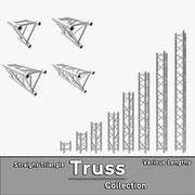 Straight Truss Collection (Triangle) 3d model