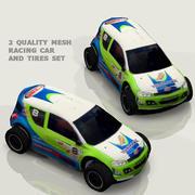 Racing car low HD poly 3d model