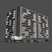 Modern City Office Building - Pro Environment Game Map 3d model