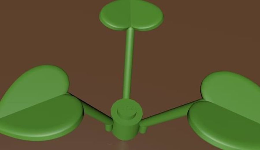 LEGO Leaf Plant royalty-free 3d model - Preview no. 3