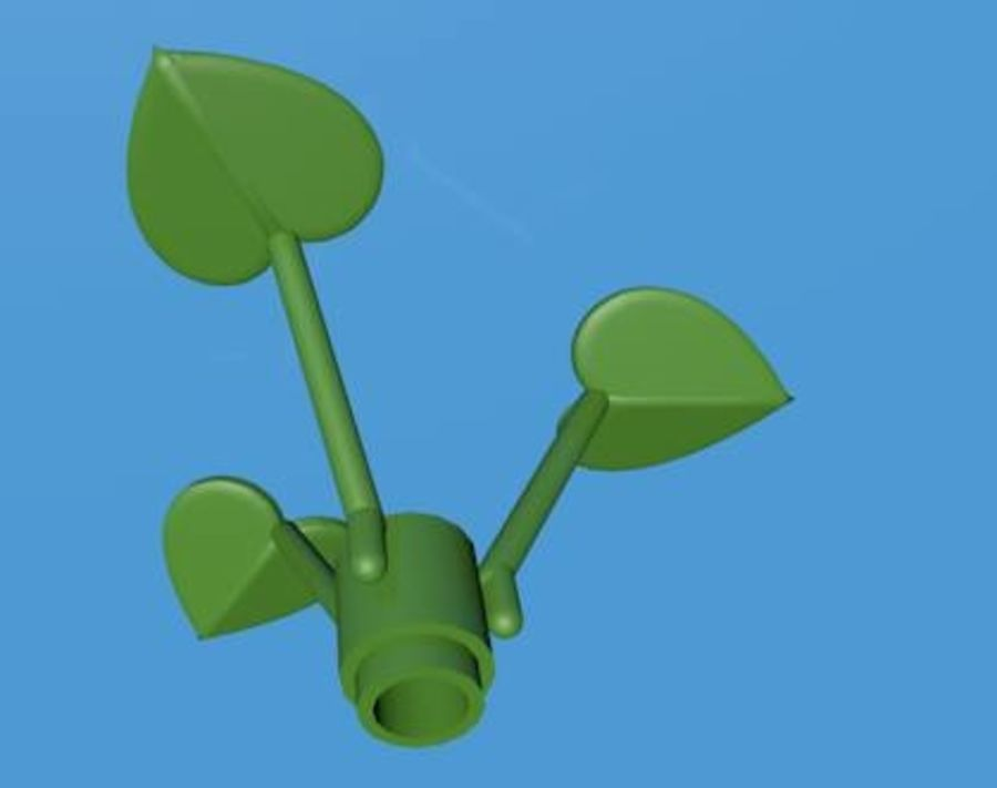 LEGO Leaf Plant royalty-free 3d model - Preview no. 5