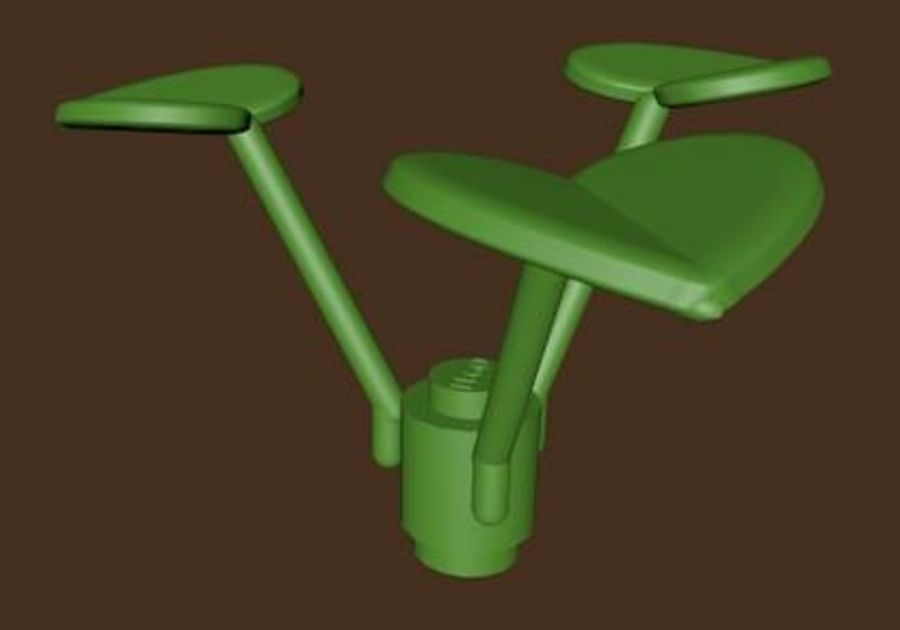 LEGO Leaf Plant royalty-free 3d model - Preview no. 2