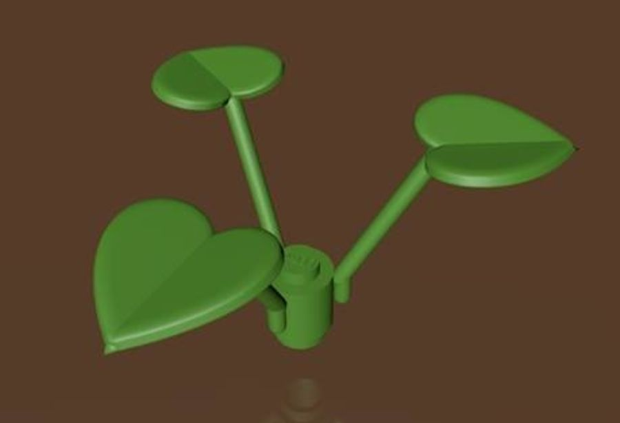 LEGO Leaf Plant royalty-free 3d model - Preview no. 1