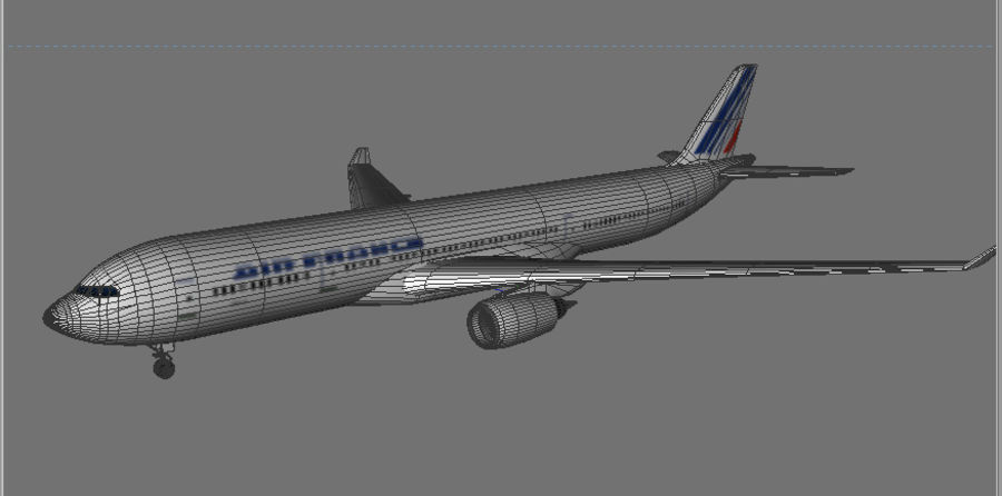 Delta do Airbus A330 royalty-free 3d model - Preview no. 5