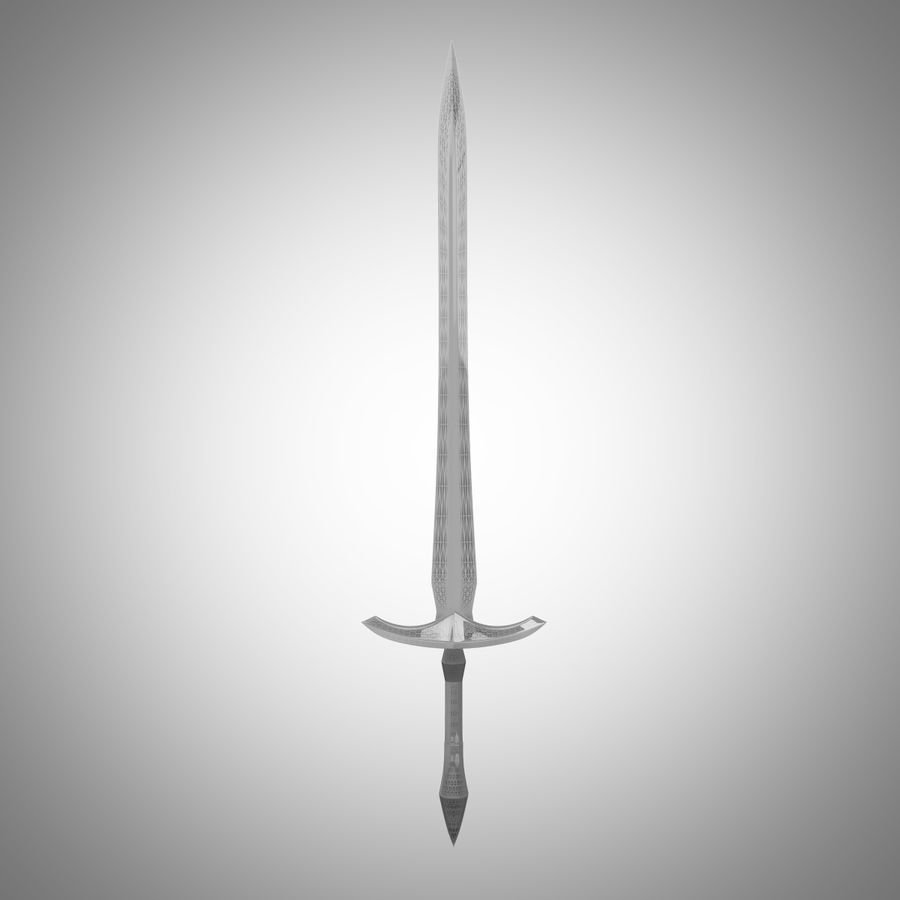Fantasy Sword royalty-free 3d model - Preview no. 16