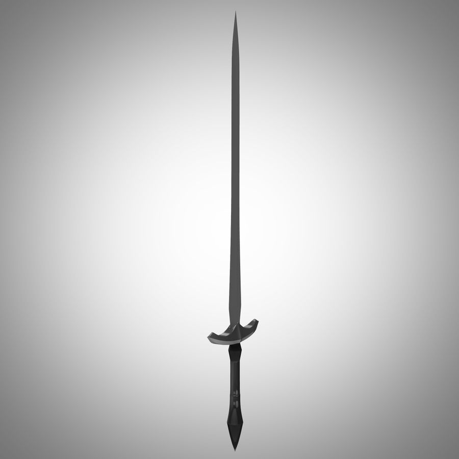 Fantasy Sword royalty-free 3d model - Preview no. 13