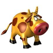 Cow Cartoon Toy 3d model