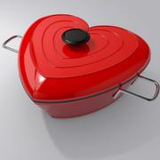 Heart Shaped Stewpot 3d model