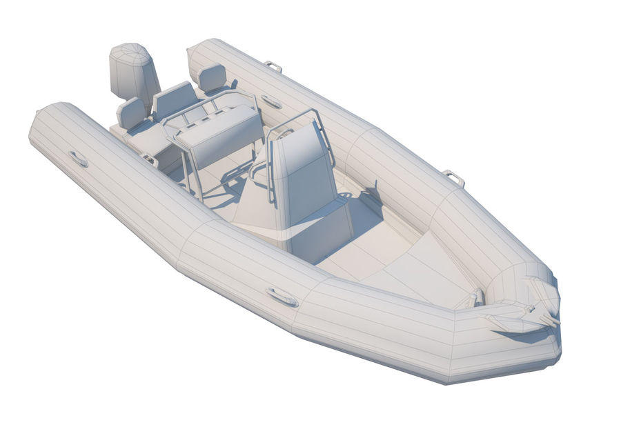 Inflatable boat Zodiac ProOpen 550 royalty-free 3d model - Preview no. 7