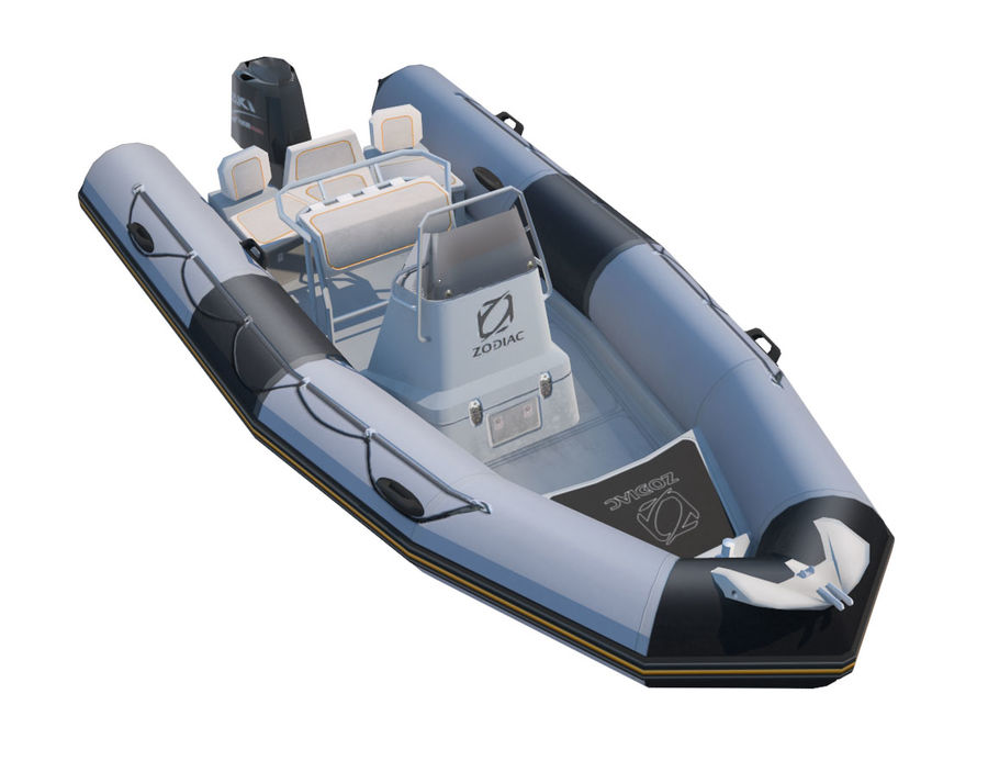 Inflatable boat Zodiac ProOpen 550 royalty-free 3d model - Preview no. 1