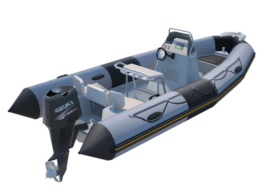 Inflatable boat Zodiac ProOpen 550 royalty-free 3d model - Preview no. 2