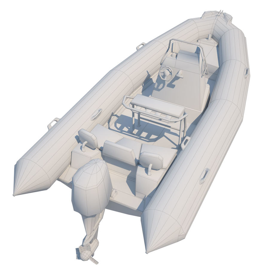 Inflatable boat Zodiac ProOpen 550 royalty-free 3d model - Preview no. 8